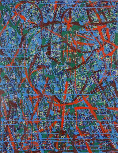 水場P.14(渦の中)      キャンバスに油彩    145.5×112cm
