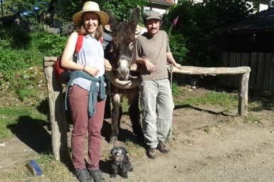 Randonnée avec un âne Massif-Central / M Turin ©CRT Limousin