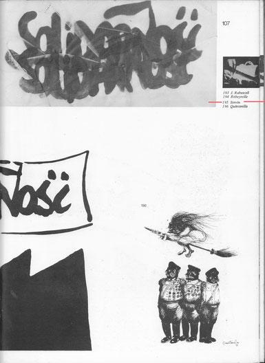 """Page 107 du livre """"Banque d'Image pour la Pologne""""avec l'oeuvre de SERVIN  en Haut  à Gauche"""