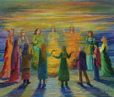 Schamanische Heilreise Michaela Hold Vollmond Göttinen Retreat Transformation Energiearbeit Heilung Holistic Pulsing Coaching Orakel Rauhnächte