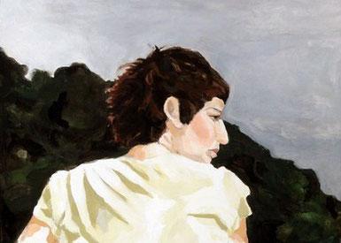 o.T., 30 x 24 cm, Acryl auf Leinwand, 2009.