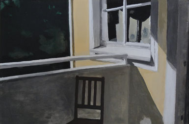o.T., 30 x 24 cm, Acryl auf Leinwand, 2010.
