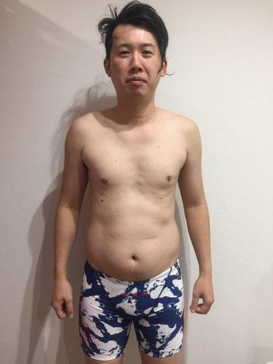 ダイエットする前の男性