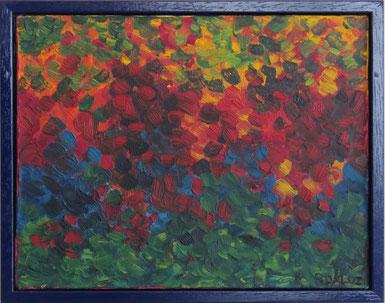 pré fleuri, tableau abstrait