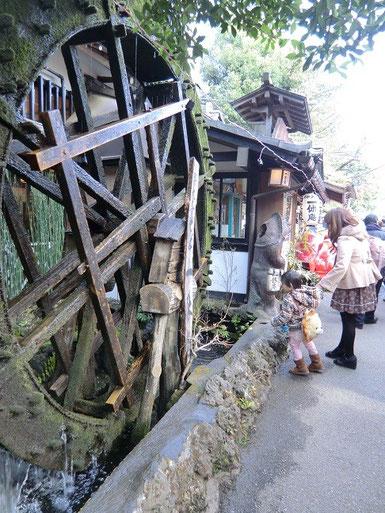 3月5日(2013) 水車(深大寺のお蕎麦屋さんの水車)
