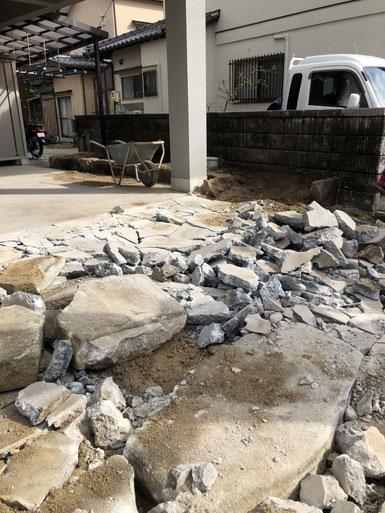 土間コンクリート解体