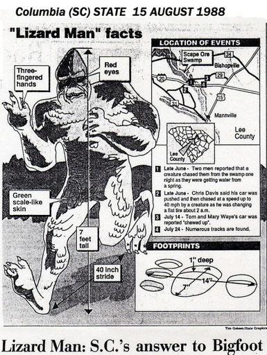 Lizard man 15 August 1988