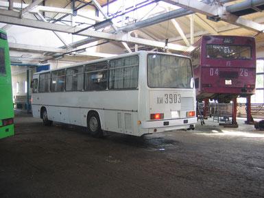 Междугородный автобус Ikarus 256.55. Ремзона АП-7, г. Минск. 15/06/2006