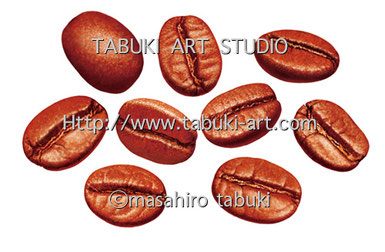 RD2152コーヒー豆 コーヒー豆と果実 coffee&beans