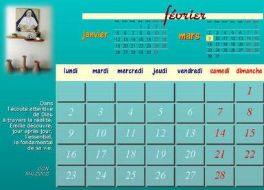 Le mois de Février depuis la Fondation