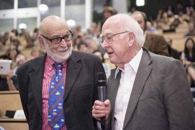 Peter Higgs et François Englert. © CERN