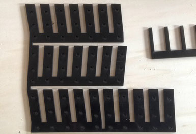 laser cutting black abs