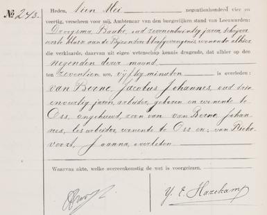 Overlijdensregister 1944, Bijzondere Strafgevangenis Leeuwarden