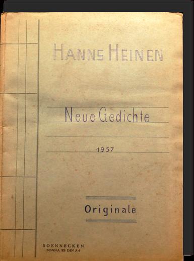 Neue Gedichte von Hanns Heinen, 1957