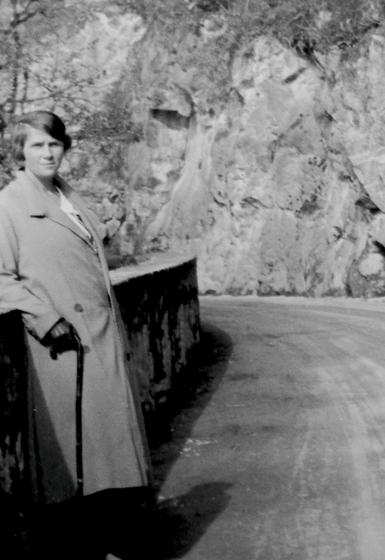Erna Heinen- Steinhoff in der Schweiz, ca. 1923