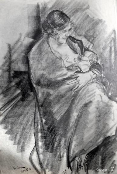 Erwin Bowien (1899-1972) – Erna Heinen-Steinhoff mit Tochter Gabriele Eleonore, 1934