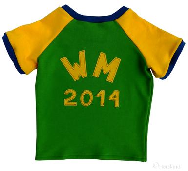 Herzkind Wm-Gewinnspiel - Gewinne ein Brasilien T-shirt mit dem Namen Deines Kinde