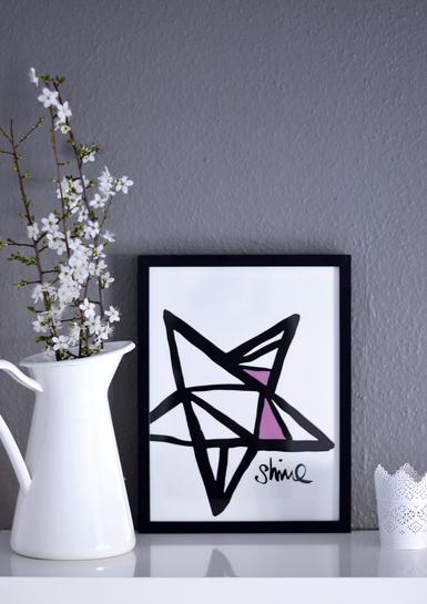 Kunstruck Shine - Motiv mit Stern
