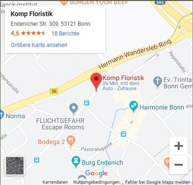 Komp Floristik, Endenicher Straße 309  53121 Bonn