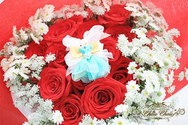 プロポーズ 花束 赤薔薇 アラジン ジャスミン ディズニーランドホテル 配達 オーダーフラワー  chouchou