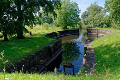 Die Palmschleuse am Stecknitzkanal bei Lauenburg