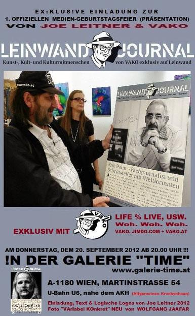 Galerie Time präsentiert neues Medium: VaKo Leinwandjournale mit Joe Leitner
