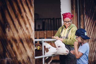 Glückliche Kühe - gesunde Ernährung.