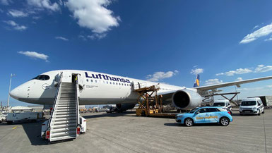 Direct apron access at the time:matters Courier Terminal at Frankfurt Airport