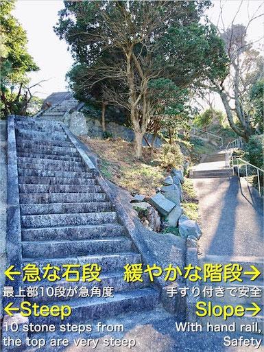 鎮懐石八幡宮の階段