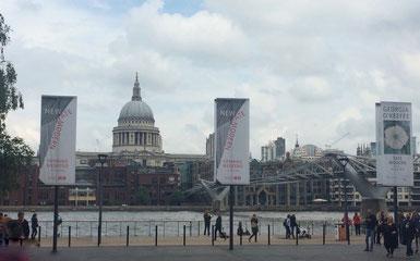 Tate Modern: Veduta di Saint Paul e Millenium Bridge. Foto by Alessia Paionni