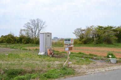 北エリアMブロックの簡易トイレ