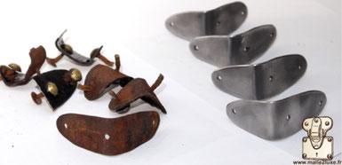 metal accessoire malle ancienne Louis Vuitton