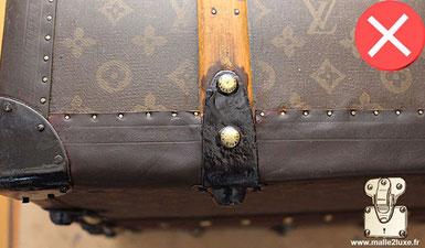 Lozine marqué au stylo bille louis vuitton escroquerie mauvaise restauration