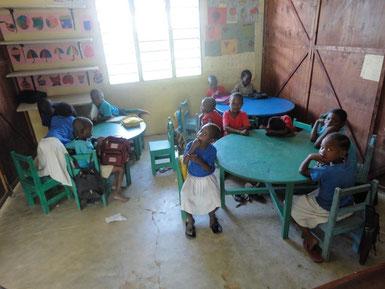 Klassenraum der Hope Orphan Pre-School