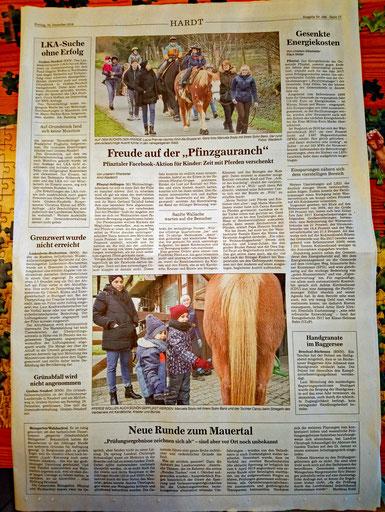 Wir sind in der Zeitung!