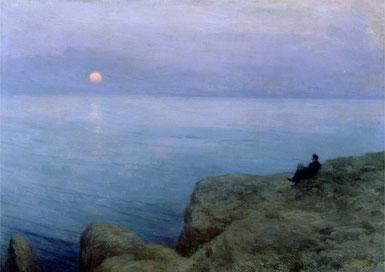 ꧁ Leonid Osipovich Pasternak, Alexandre Pouchkine au bord de la mer, 1896 ꧂