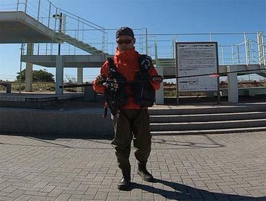 『釣り松TV』shojiです。波崎シーサイドパークにて
