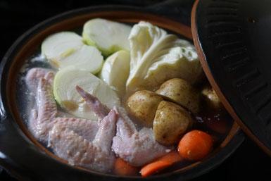 仲本律子 R工房 女性陶芸家 ブログ 土鍋 お料理 水炊き 土鍋作品