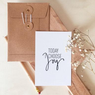 Papeterie Laure M Joy - Carte joyeuse - Marque artisanale papeterie