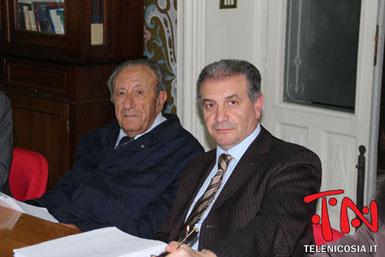 Il Presidente del Comitato Prof. Alberto Murè, il decano della protesta per il Tribunale, ed il v.Presidente Avv. Salvatore Timpanaro