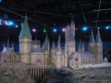 Modell von Hogwarts für die Außen-Aufnahmen des Schlosses