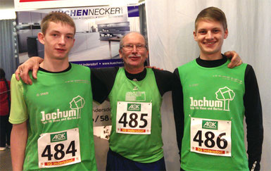 lvnr. Thomas Fischer, Bay. Meister Franz Herzgsell, Felix Luckner