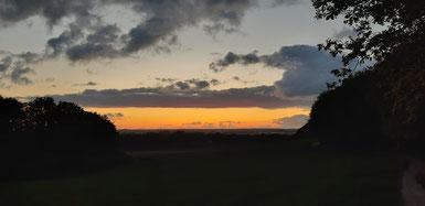 Sonnenuntergang am Weyerberg