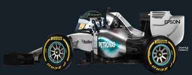 Nico Rosberg by Muneta & Cerracín - escudería Mercedes AMG Petronas F1 Team con un Mercedes F1 W06 - Mercedes V6