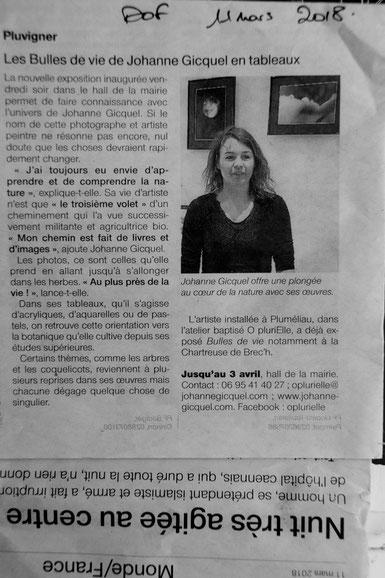 article paru dans Dimanche Ouest France 11 mars 2018