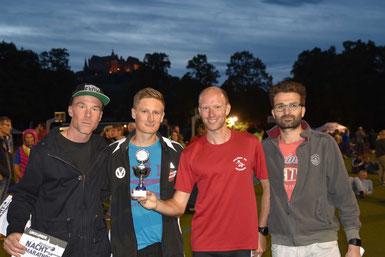 Siegerstaffel VfL Marbung & Friends: Olaf Wickenhöfer, Luks Huber, Arnfried vom Hof, Thorsten Hering. Foto: H.SCHAAKE