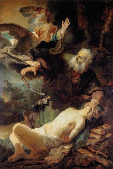 Le sacrifice d'Abraham - Rembrandt - Musée de l'Ermitage