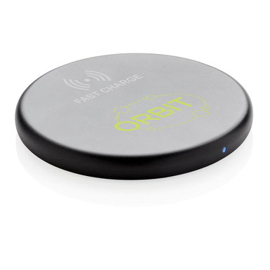 Wireless-Charging, Kabellose Ladestation bedrucken, Wireless Ladestation bedruckt, Wireless Ladestation Werbemittel, Kabellose Ladestation, Wireless-Charging bedrucken, Wireless-Charging mit Logo, Drahtlose-Ladestation bedrucken