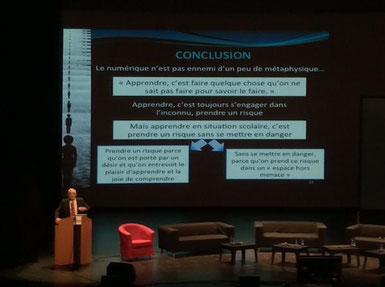 """Philippe Meirieu """"Apprendre avec le numérique """" en ouverture du Plan National de Formation"""