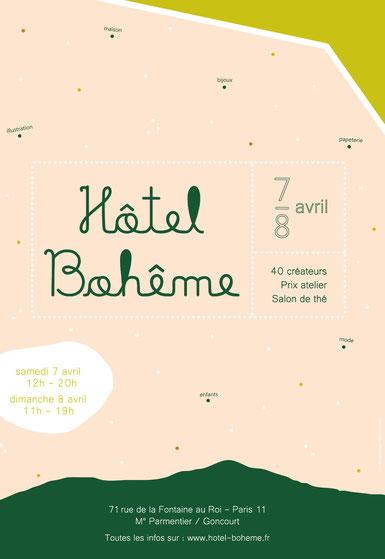 Homigalli à Hôtel Bohême Paris, salon de créateurs